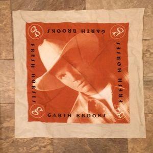 Rare Vintage Garth Brooks Band Scarf Hanky Country